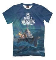 World of Warships official t-shirt - wargame all over printed tee