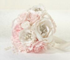 LILLIAN ROSE SILK  WEDDING BRIDAL BOUQUET -VINTAGE BLUSH