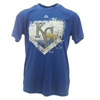 Kansas City Royals Official MLB Majestic Kids Youth Size Athletic Shirt New Tags