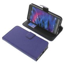 Tasche für MEDION Life X5004 Book-Style Schutz Hülle Handytasche Buch Blau