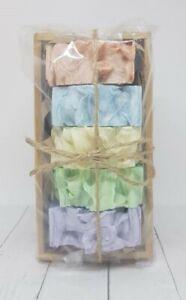 BULK 5 Pack GIFT BOXED SET ~ RAINBOW ~ Fragrance Oil Soap Bars AUSTRALIAN MADE