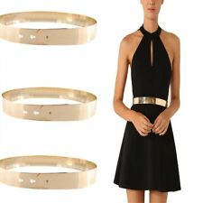 New Women Charm Waist Belt Full Gold Wide Band Ladies' Decorative