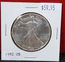 1992 Silver American Eagle BU 1 oz. US $1 Dollar Uncirculated Brilliant Mint *92