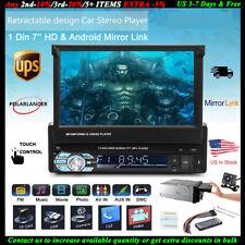 7''1 Din Car Radio SD/AUX/FM Stereo Head Unit Bluetooth 12V Touch Screen +Camera