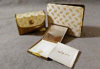 Vintage Fifth Avenue Compact Cigarette Case Retro 3 pc Set Gold Tone Tapestry