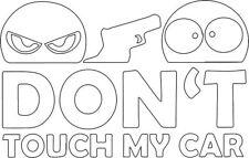 Don't Touch My Car Autoaufkleber weiß Tuning JDM Sticker Aufkleber OEM DUB