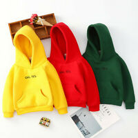 Toddler Kids Baby Boy Girl Hooded Sweatshirt T-shirt Pullover Blouse Hoodie Tops