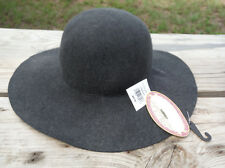 744cd7d659775 Handcrafted Gray Floppy Wide Brim Wool Womens Hat
