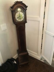 FW Elliott, London Grandmother's Long Case Clock, c1950's