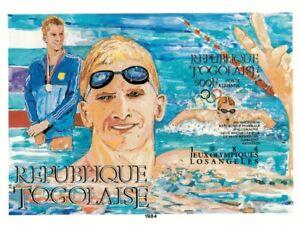 Togo 1984 SC# C508 - Olympics Swimming, Sport - Imperf Souvenir Sheet - MNH