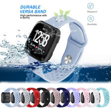Sports Silicone L/S Hollow Wrist Band Bracelet Loop For Fitbit Versa 1 2/Lite/SE