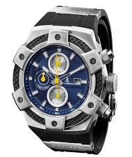 CALABRIA - ARMATO - Blue Chronograph Men Watch with Carbon Fiber Bezel