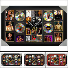 Tupac 2pac 4CD Signed Framed Memorabilia LTD - Large - Multiple Variations