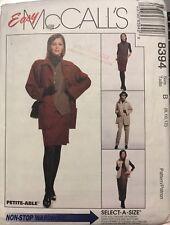 McCall's Non-Stop Wardrobe pattern 8394 Misses/Petite Jacket, Vest sz 8-12 uncut