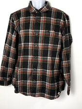 Carhartt SLIM FIT Flannel Button Front Shirt Men's XL Red & Gray Plaid Cotton