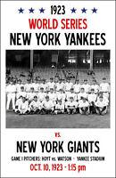 1923 World Series Poster - Yankees vs. Giants