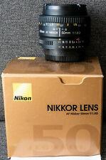 Nikon Nikkor AF 50mm f/1.8D Lens - BOXED - LIGHTLY USED
