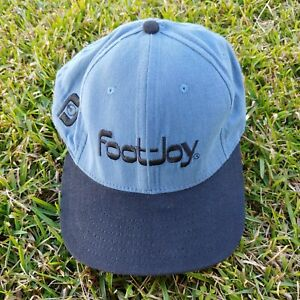 Vintage Footjoy Blue Gray Adjustable Back Hat Cap Made In USA!
