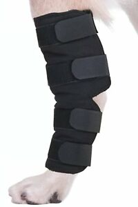 Dog Canine Rear Leg Hock Joint Support Wrap Wounds Protects Knee Brace SM/L/XL