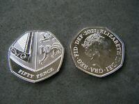 Royal Mint 2021 Royal Shield BU 50p Coin - Brilliant Uncirculated