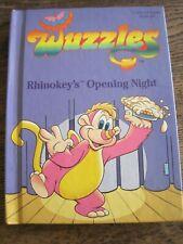 VTG Wuzzles Rhinokey's Opening Night HBK 1984 Collector's Series Book #6 Hasbro