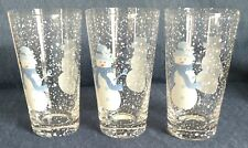 "Target Home ~ ""Winter Frost"" ~ 6"" DRINKING GLASSES ~ Snow Couple ~ 2 available"