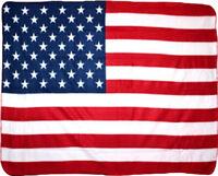 USA American Patriotic 50 Star Flag 50x60 Polar Fleece Blanket Throw Premium
