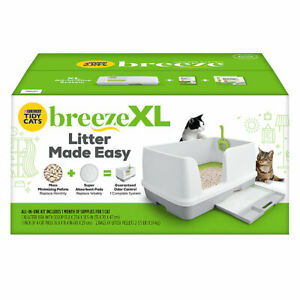 Purina Tidy Cats Breeze XL Non-Clumping Cat Litter Box System Starter Kit ✔️✔️✔️