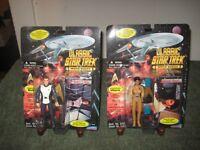 """Classic Star Trek Movie Lot Lt. Uhura & Capt. Kirk 1995 Playmates 4.5"""" Figures"""