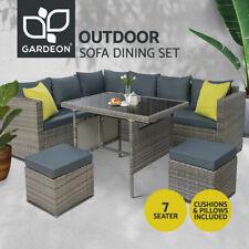 Gardeon Outdoor Furniture Patio Set Dining Sofa Table Chair Lounge Garden Wicker