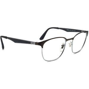 Ray-Ban Eyeglasses RB 6356 2874 Gunmetal/Silver Square Browline Frame 50[]18 145