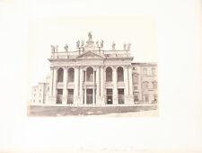 ALBUMEN PHOTO OF SAINT JEAN DE LATRAN CHURCH - ROME, ITALY