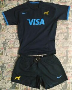 Nike Argentina Rugby Men's Jersey and short whit the number 49 in the back XL