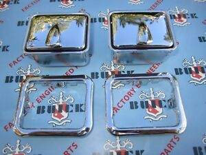 1948-1958 Buick & Oldsmobile Rear Quarter Arm Rest Ash Trays with Bezels (Pair)