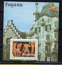 Guyana Deportes Olimpiada Barcelona 92 hojita año 1992 (CW-154)