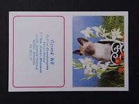 Ancienne carte parfumée calendrier 1979 Gérard Né coiffeur Angers chat Katze cat