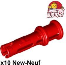 Lego technic - 10x Pin Long with Friction Ridges Lengthwise rouge/red 32054 NEUF