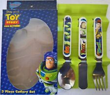 ~ Toy Story - Buzz & Woody 3 PC CUTLERY DINNER BABY KIDS SET Spoon Fork Knife
