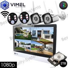 Wireless Surveillance Home 2TB NVR Display System IP Cameras Thermal Sensor