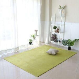 Sofa Carpet Coral Velvet Floor Mats Solid Color Water Absorption Home Decoration