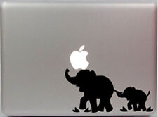 Cute African Elephant Holding Tail Apple Macbook Removable Vinyl Sticker Decal
