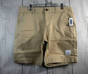 """Women's Old Navy Tan Everyday Shorts Size14 Mid-Rise 9"""" Bermuda NWT FREE SHIP"""