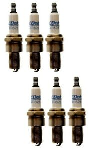 Set Of 6 Spark Plugs AcDelco For Reliant Ford BMW Bentley Austin Healey AC L6