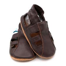 Chaussures marrons unisexe en cuir pour bébé