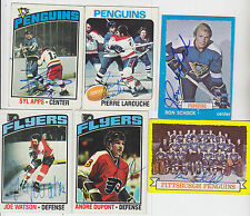 1976-77 TOPPS SIGNED AUTO CARD ANDRE MOOSE DUPONT FLYERS BLUES NORDIQUES # 131
