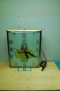 1950's Vintage Original Nu Grape Soda Advertising Clock Swihart prod Elwood Ind