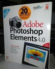 Adobe Photoshop Elements 4.0 - Windows Free Shipping