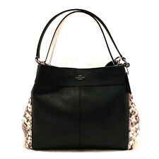 COACH Lexy Shoulder Bag with Snake Embossed Leather Trim Handbag F57505 NWT