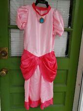 Super Mario PRINCESS PEACH Costume Cosplay~Girls L 10-12~Dress Only~EUC~Adorable