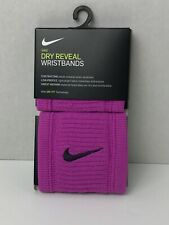 Nike Dry Reveal Wristbands 2-PACK Tennis,Soccer,Running Purple Dri-Fit-RTS